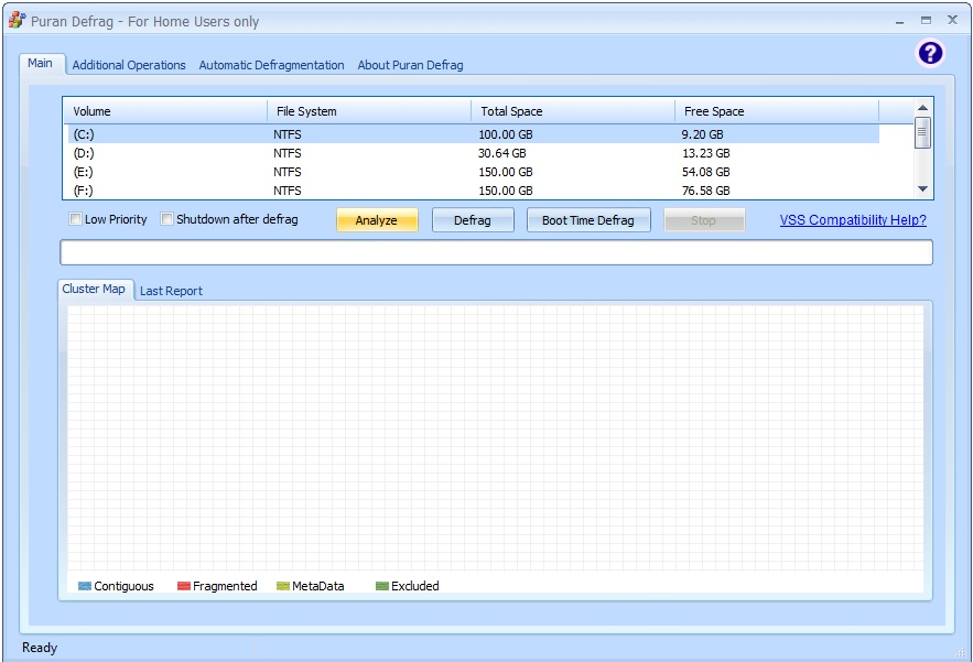 Click to view Puran Defrag 7.3 screenshot