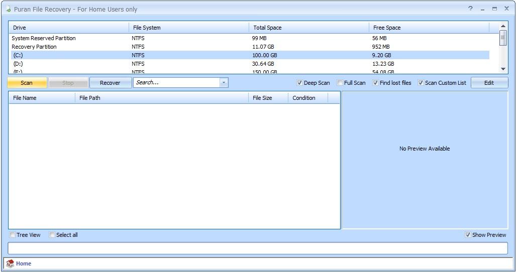 برنامج مجانى مميز لاستعادة الملفات المحذوفة والمفقودة من وحدات التخزين المختلفة Puran File Recovery1.1