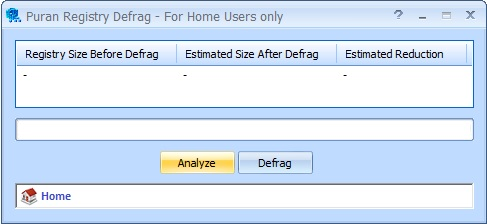Defrag and Compact Windows registry